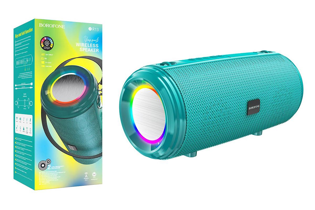 Портативная беспроводная акустика BOROFONE BR13 Young sports BT  цвет зеленый