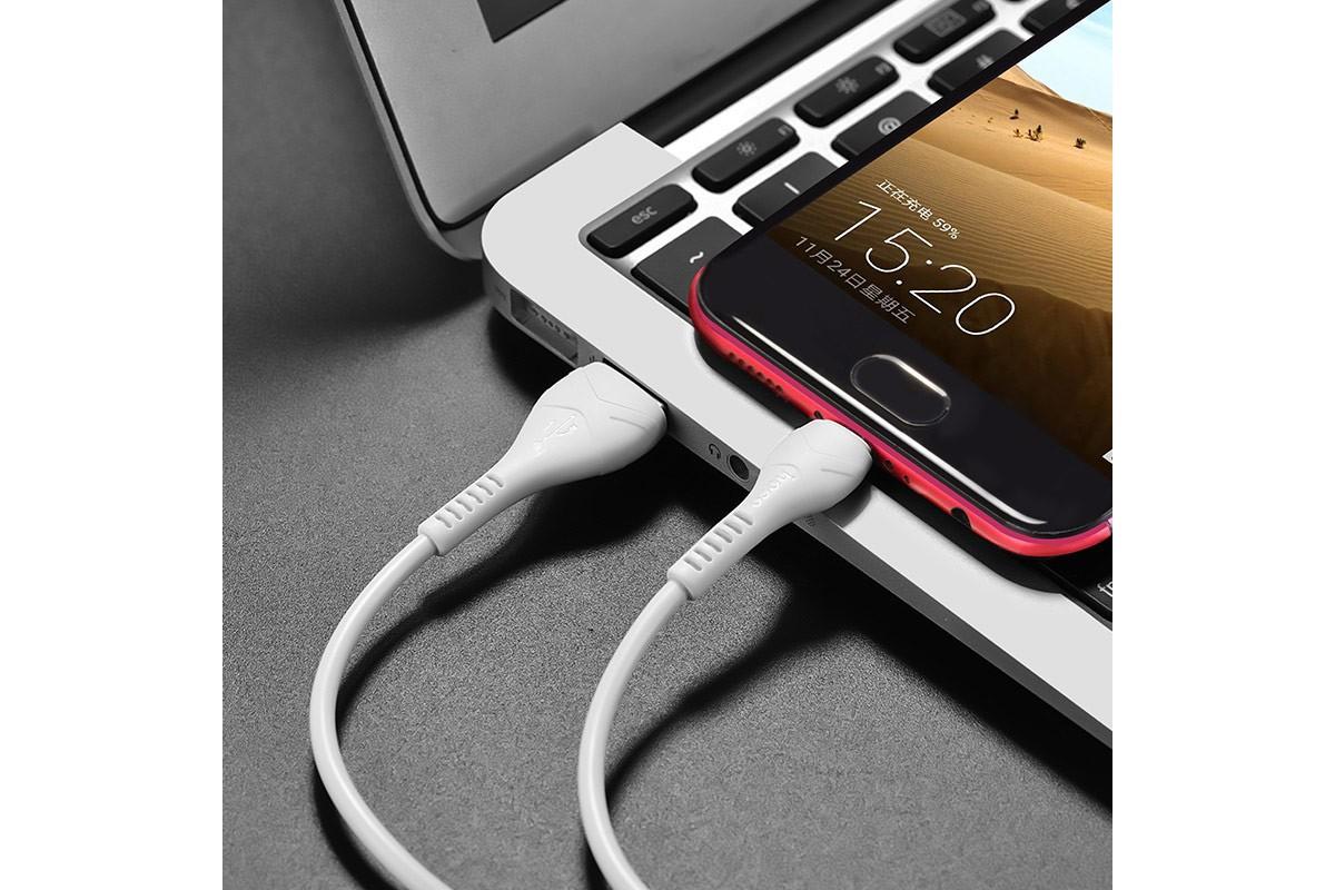 Кабель USB micro USB HOCO X37 Cool power charging data cable for Micro 1 метр черный