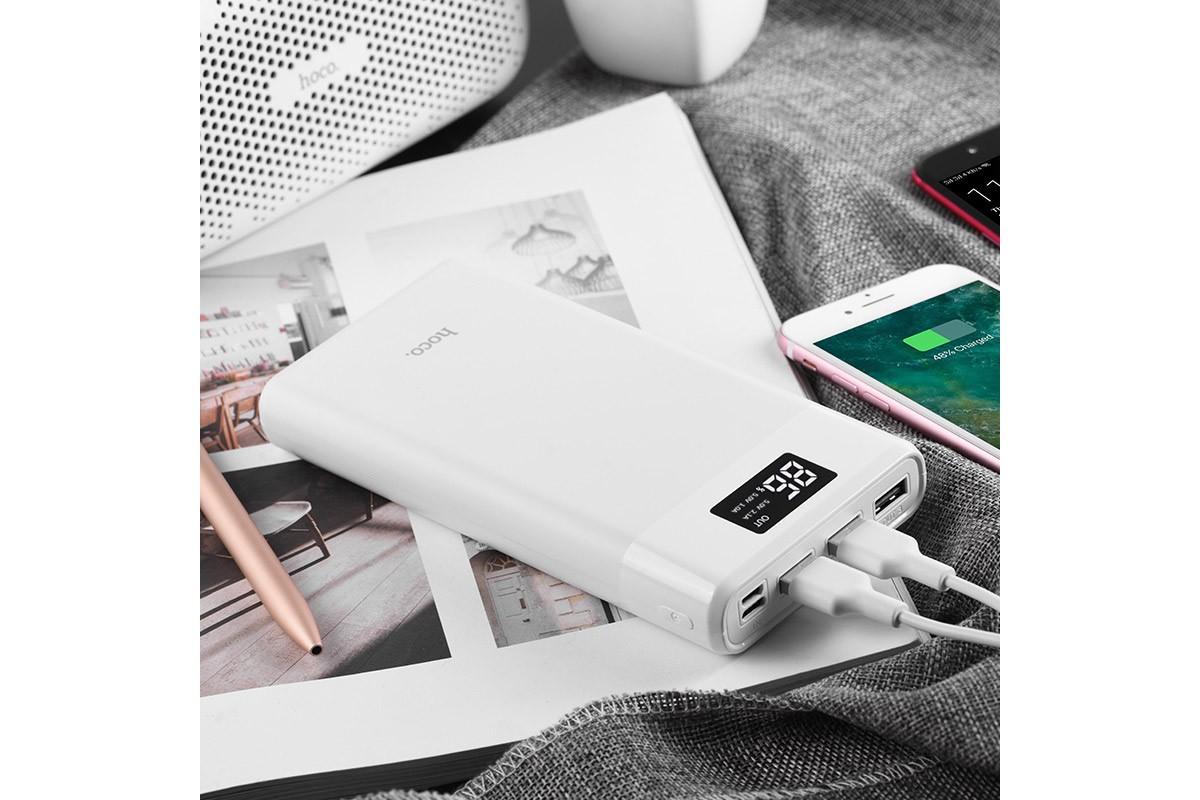 Универсальный дополнительный аккумулятор HOCO B35E Entourage Bank 30000 mAh белый