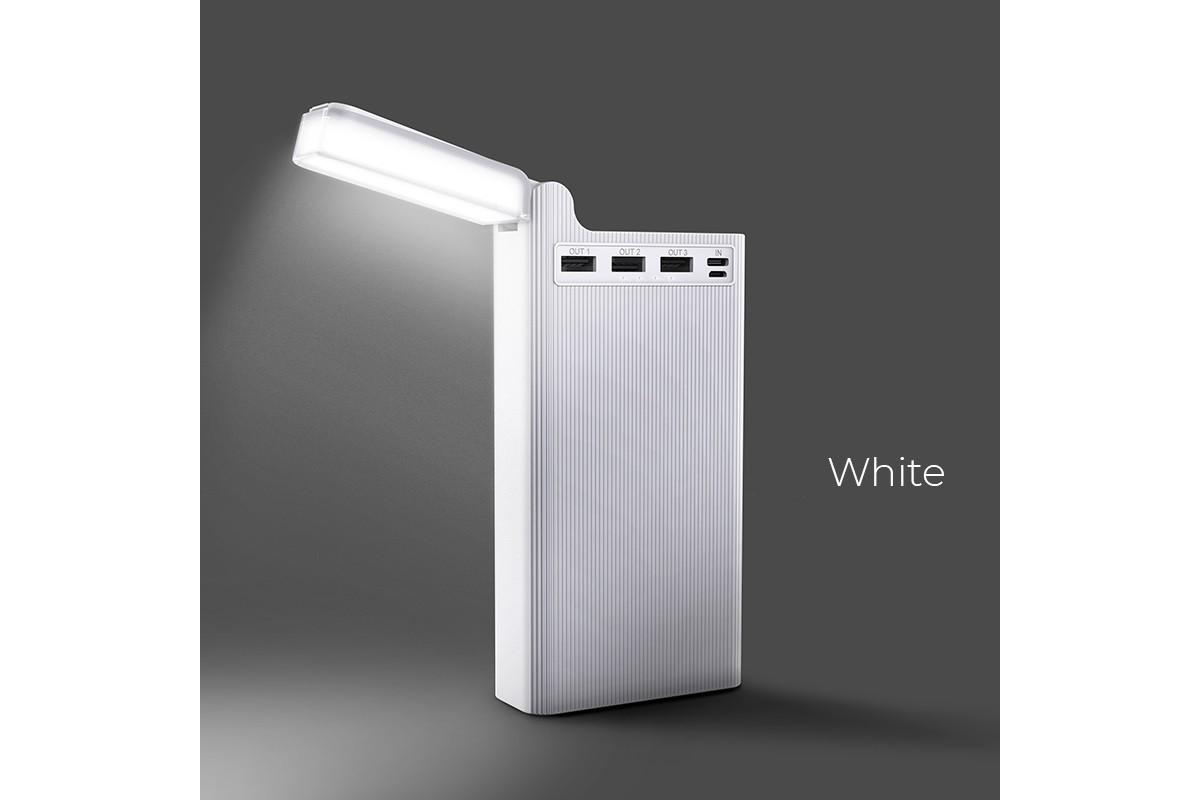 Универсальный дополнительный аккумулятор HOCO J62 Bank 30000 mAh белый