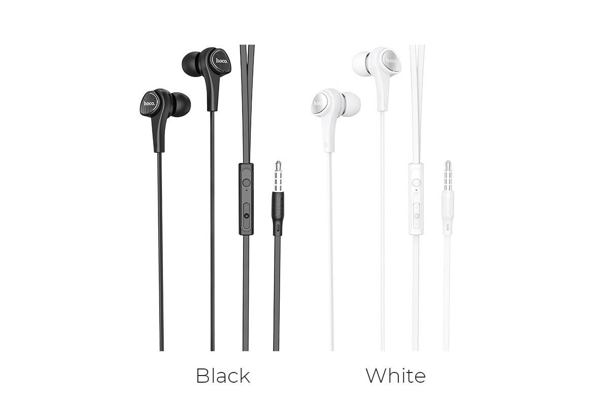 Гарнитура HOCO M66 Passion in line control earphones белая
