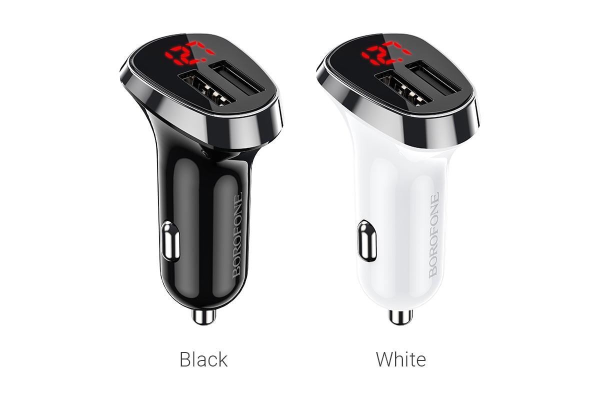 Автомобильное зарядное устройство 2USB BOROFONE BZ15 Auspicious duble port car charger 2400 mAh черный