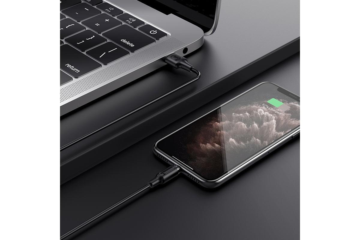 BOROFONE BX41 Amiable magnetic charging data cable for Lightning 1м черный