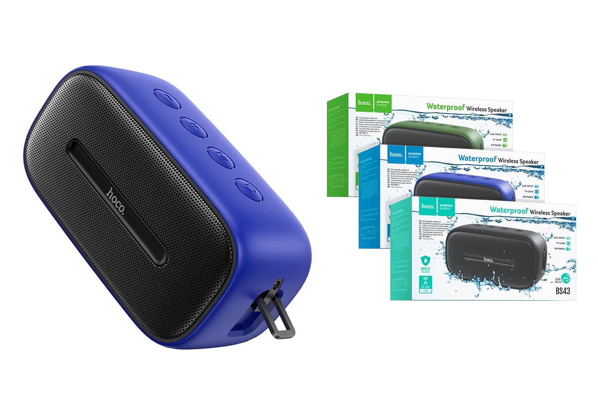 Портативная беспроводная акустика HOCO BS43 Cool sound sports wireless speaker цвет синий