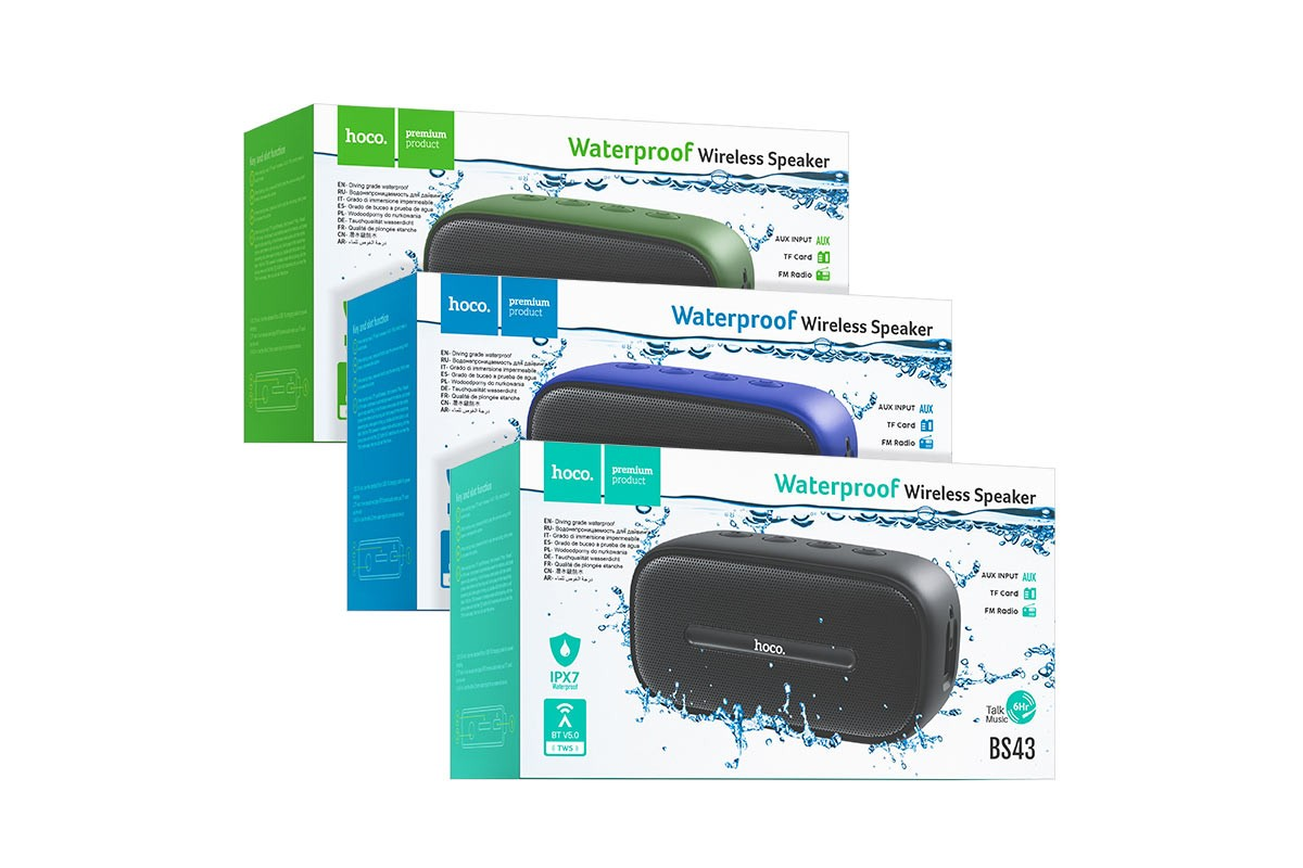 Портативная беспроводная акустика HOCO BS43 Cool sound sports wireless speaker цвет зеленый