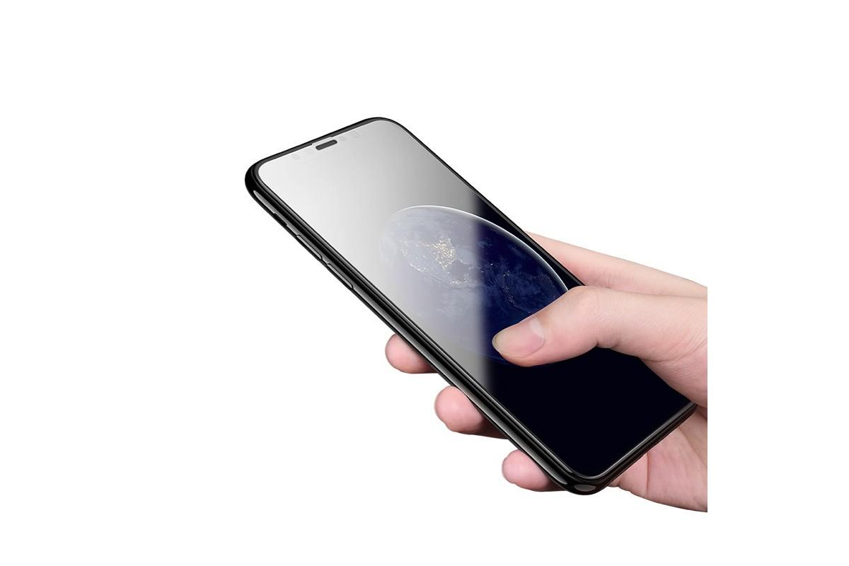 Защитное стекло дисплея iPhone XR/11 (6.1)  HOCO G2 3D Anti-shock Full Screen HD tempered glass  черное