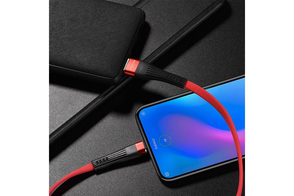 Кабель USB BOROFONE BU4 Type-C cable (красный) 1 метр