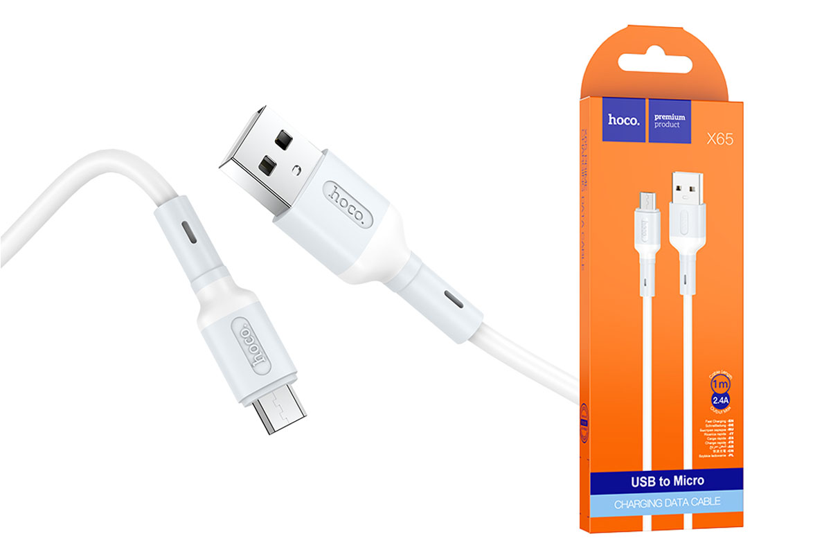 Кабель USB HOCO X65 Prime белый 1м