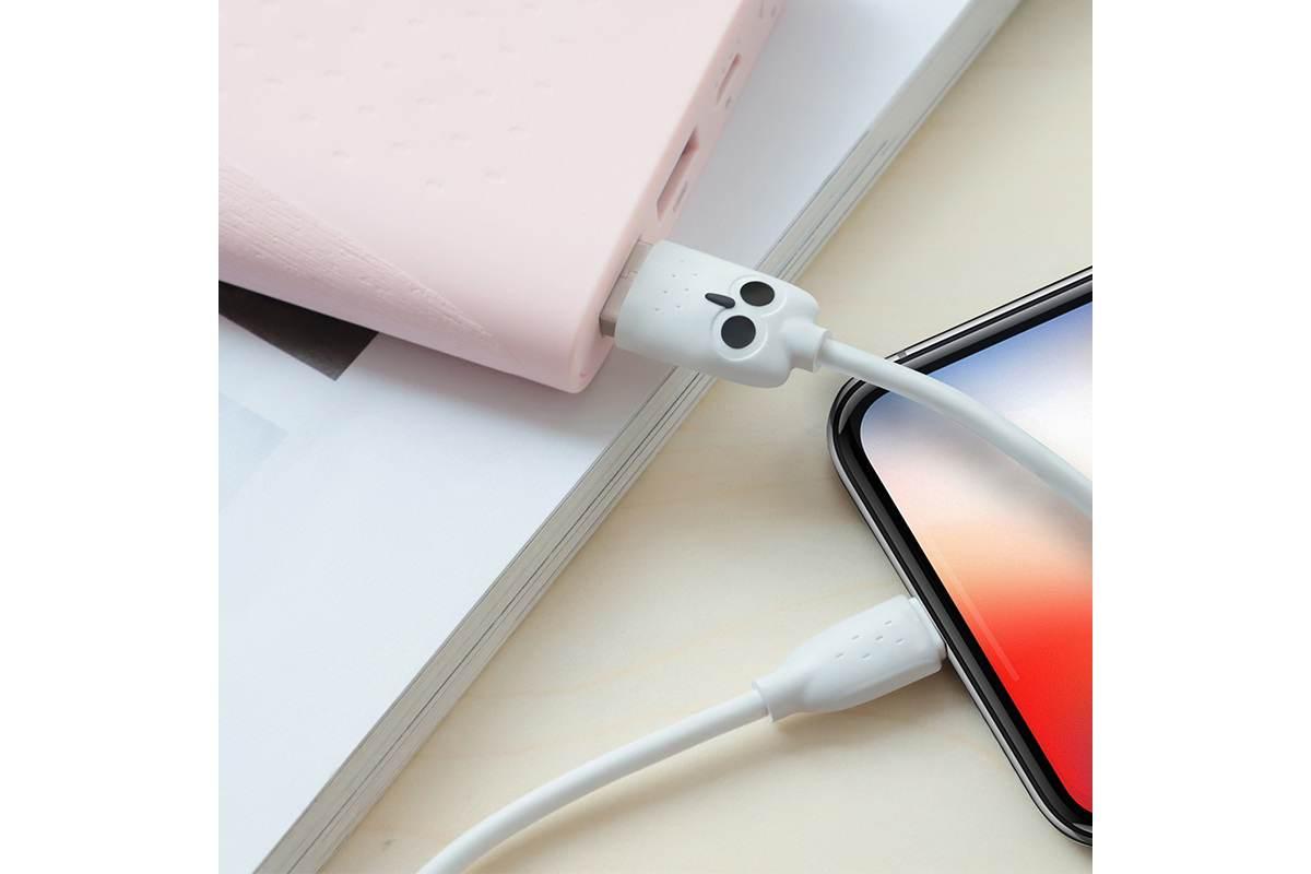 """Кабель для iPhone HOCO KX1 Lightning charging data cable 1м белый """"Совенок"""""""