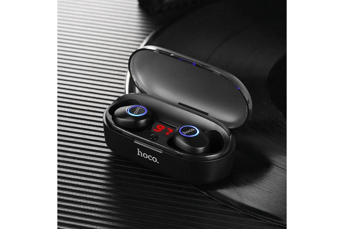 Bluetooth-гарнитура ES24 Joyous sound wireless headset HOCO черная