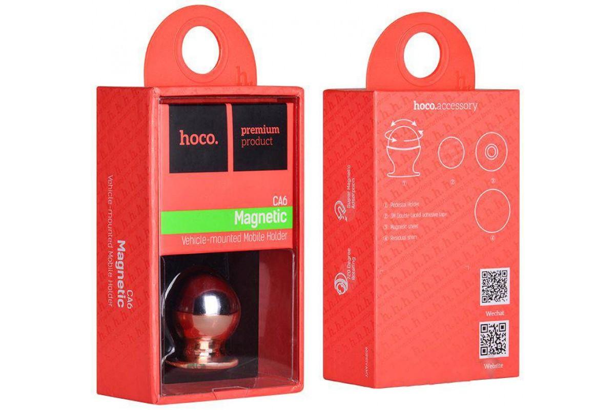 Держатель авто HOCO CA6 Full-metal magnetic vehicle Holder розовый