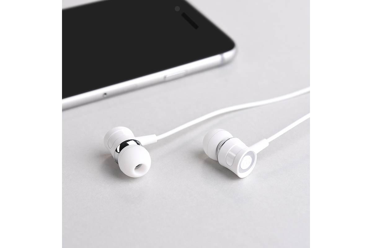 Гарнитура HOCO M37 pleasant sound universal earphones with microphon 3.5мм белый