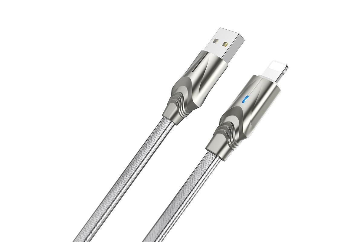 Кабель для iPhone BOROFONE BU12 Synergy charging data cable for Lightning 1м серый