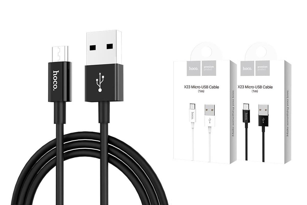 Кабель USB micro USB HOCO X23 cable (черный) 1 метр