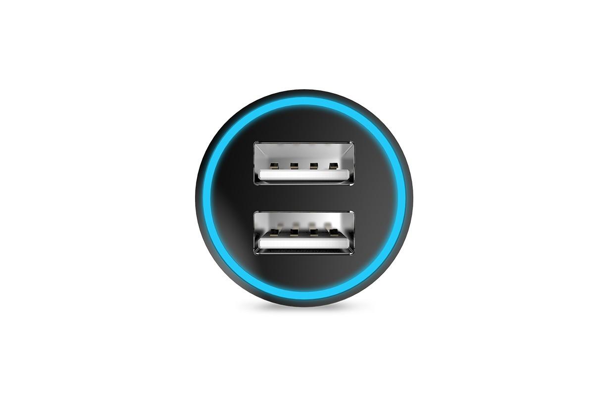 Автомобильное зарядное устройство 2USB HOCO UC204 series 2400mAh черный