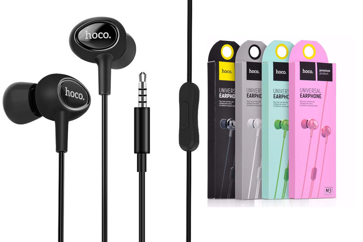 Гарнитура HOCO M3 universal earphones with microphone 3.5мм черный