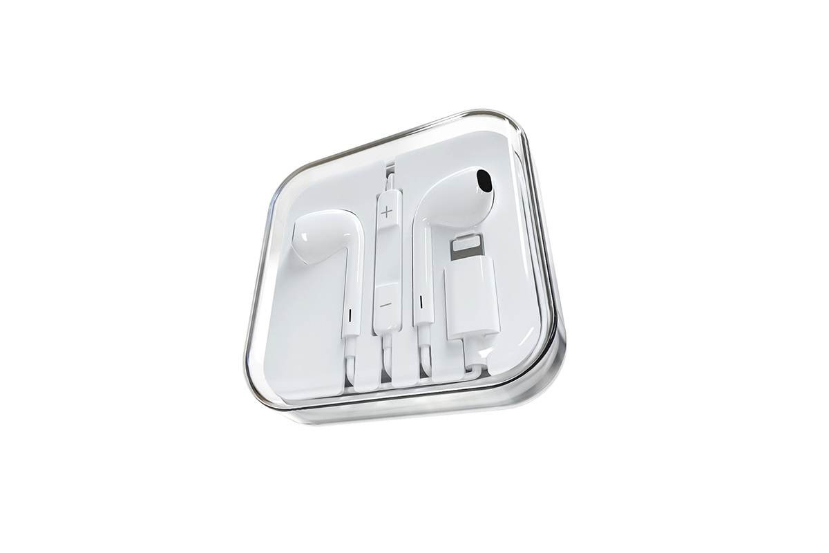 Гарнитура BOROFONE BM32 universal earphones Lighting белая (под оригинал)