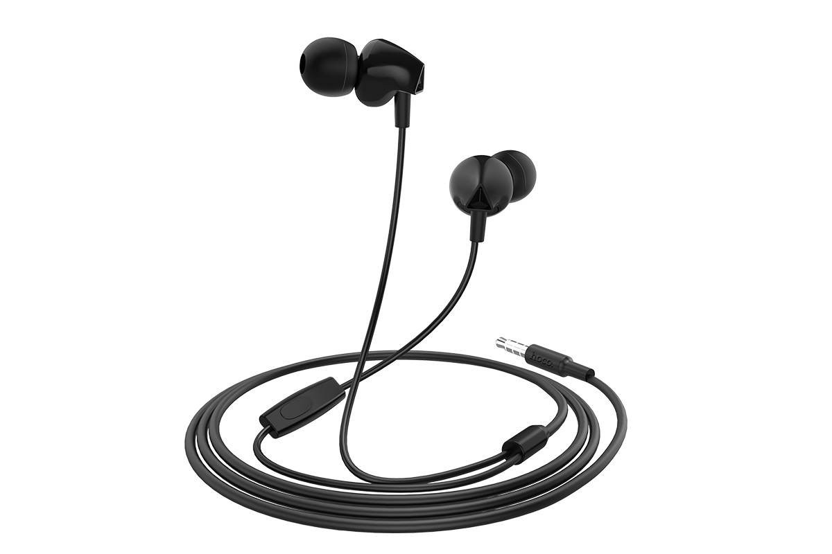 Гарнитура HOCO M60 Perfect sound universal earphones черная