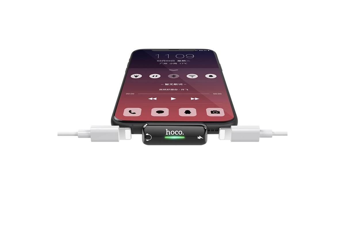 Адаптер-переходник HOCO LS27 lightning digital audio converter with charging