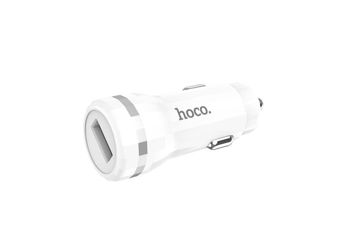 Автомобильное зарядное устройство USB Z27A Staunch single port in-car QC3.0 charger белый