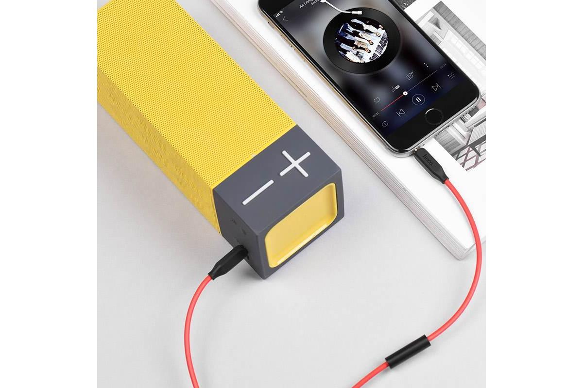 Кабель удлинитель HOCO UPA12 AUX Audio cable 3.5 1 метр черный с микрофоном