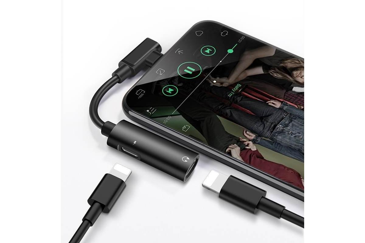 Адаптер-переходник HOCO LS18 lightning digital audio converter with charging