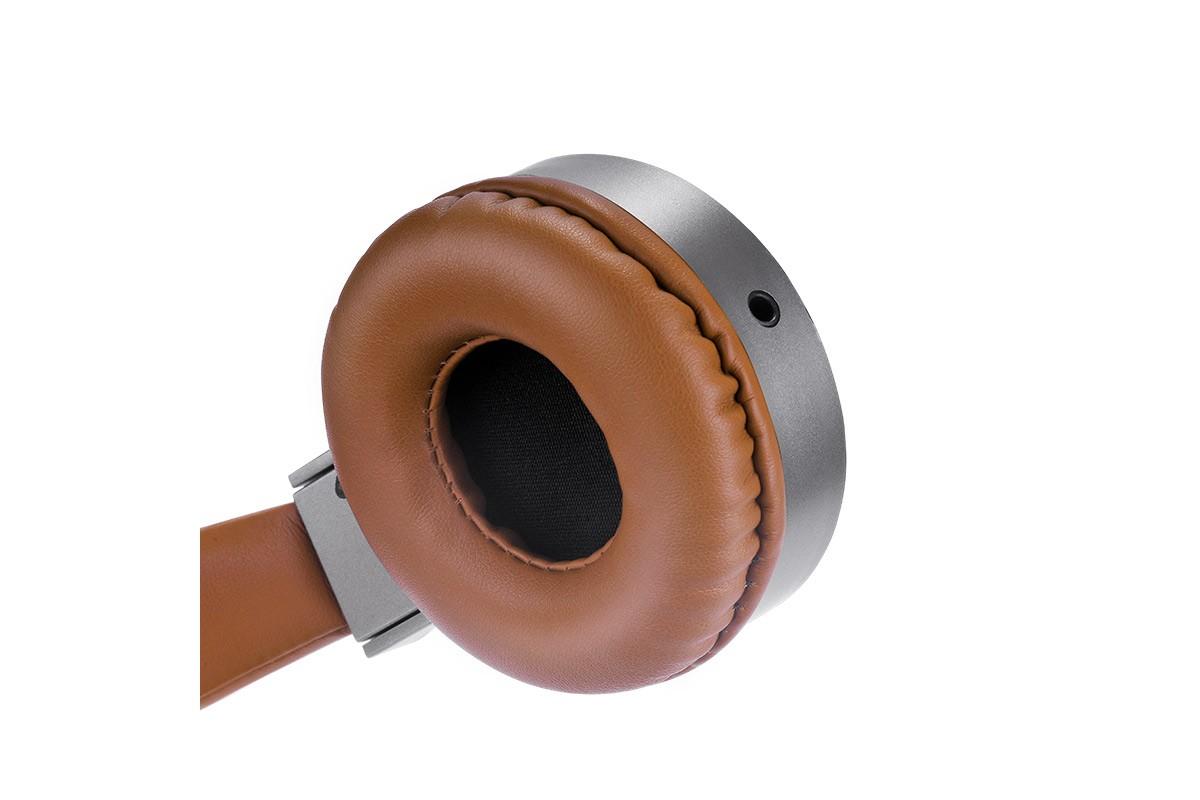 Внешние наушники/гарнитура  HOCO W2 цвет коричнево-серебристый