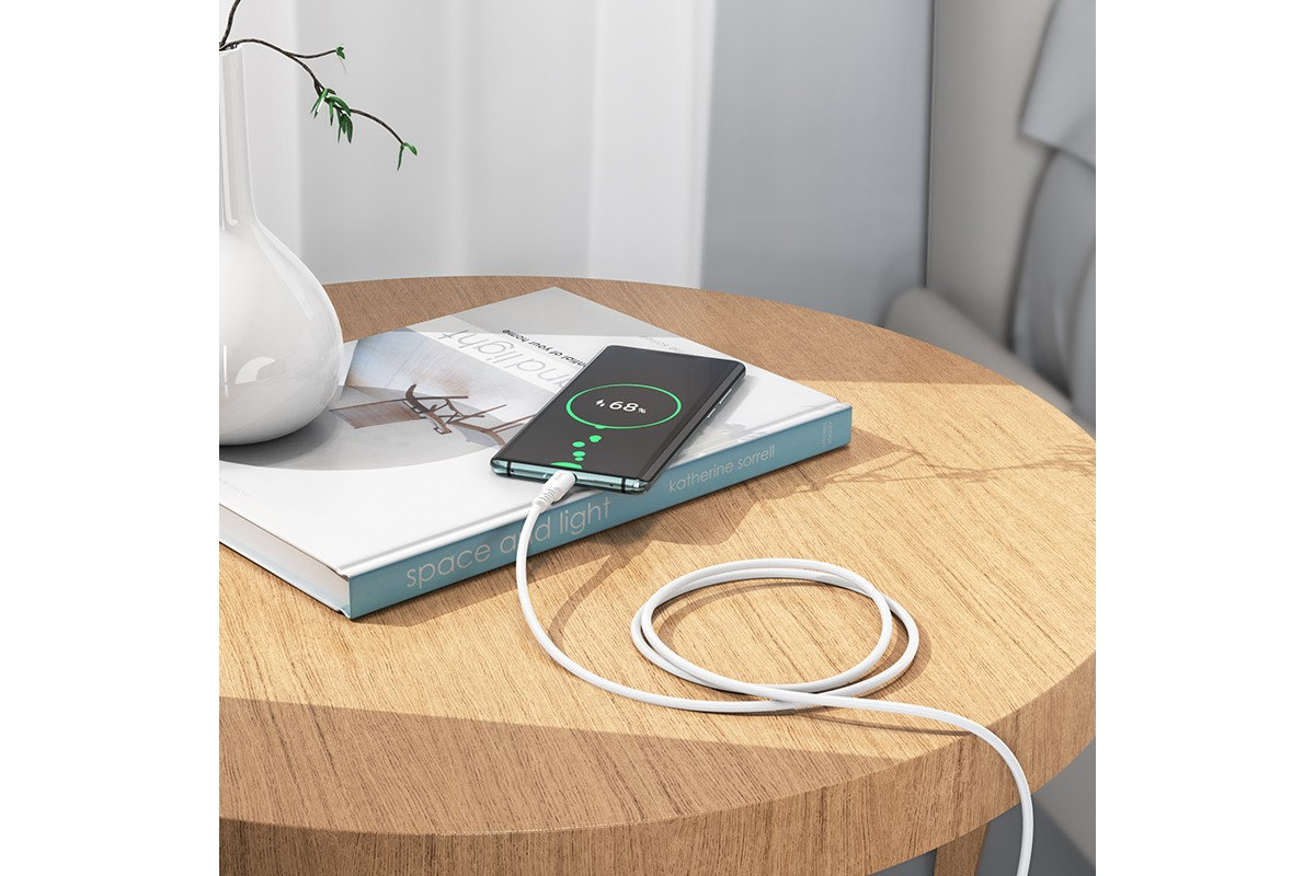 Кабель USB HOCO X62  Type-C to Type-C higt energy 100w (белый) 1 метр