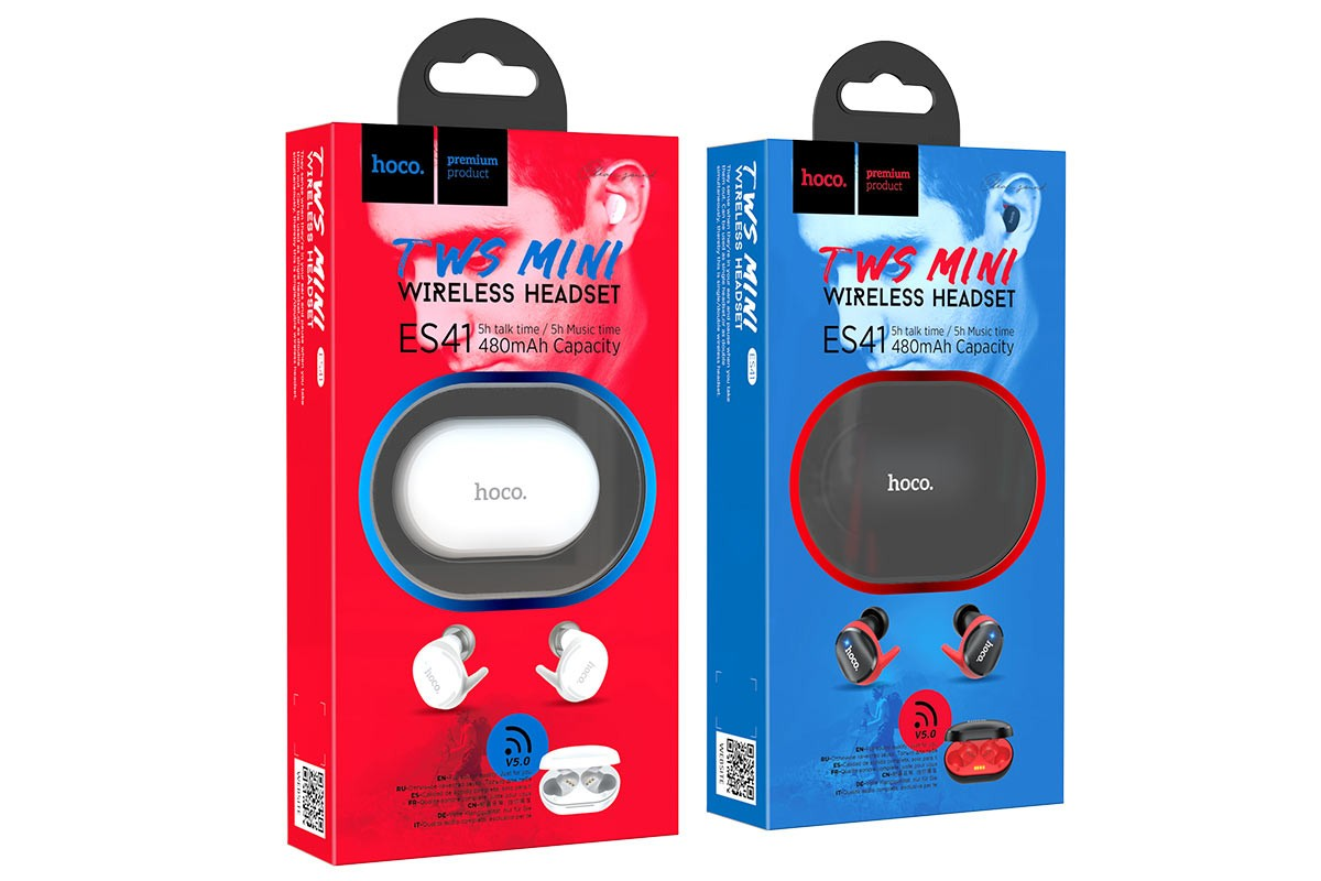 Bluetooth-гарнитура ES41 Clear sound TWS bluetooth earphone HOCO белая