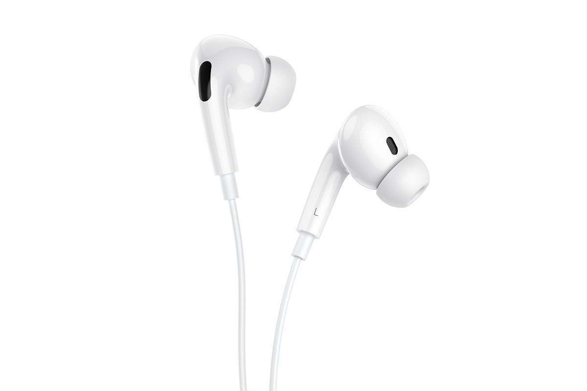 Наушники BOROFONE BM30 Max Acoustic wire control earphones  with mic Type-C белая