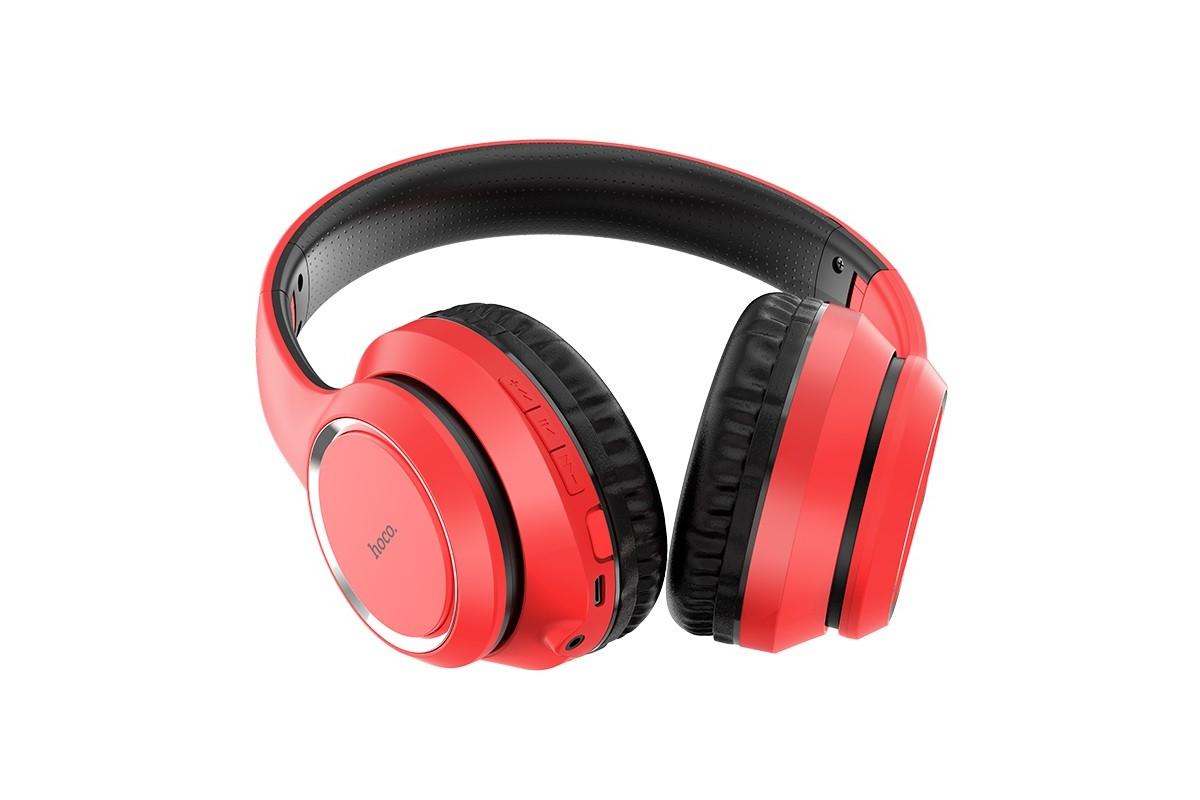 Беспроводные внешние наушники HOCO W28 Journey wireless headphones красный