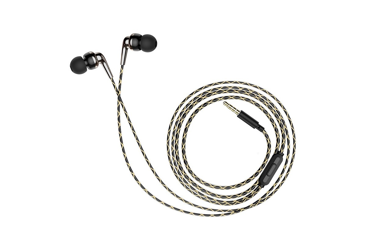 Гарнитура HOCO M71 Inspiring universal earphones черная