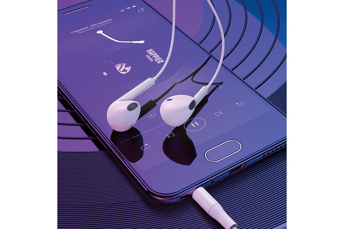Гарнитура BOROFONE BM54 Maya Universal earphones 3.5мм цвет белая