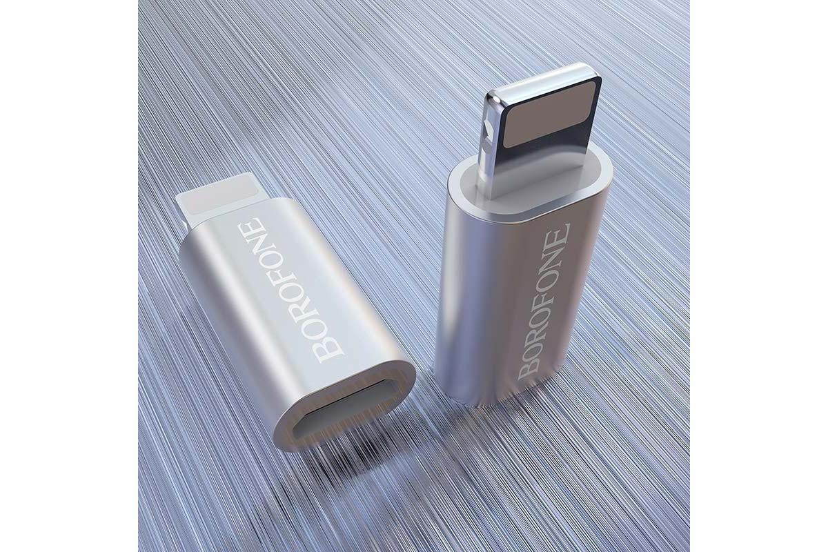 Адаптер-переходник HOCO BV5 micro USB на lightning connector