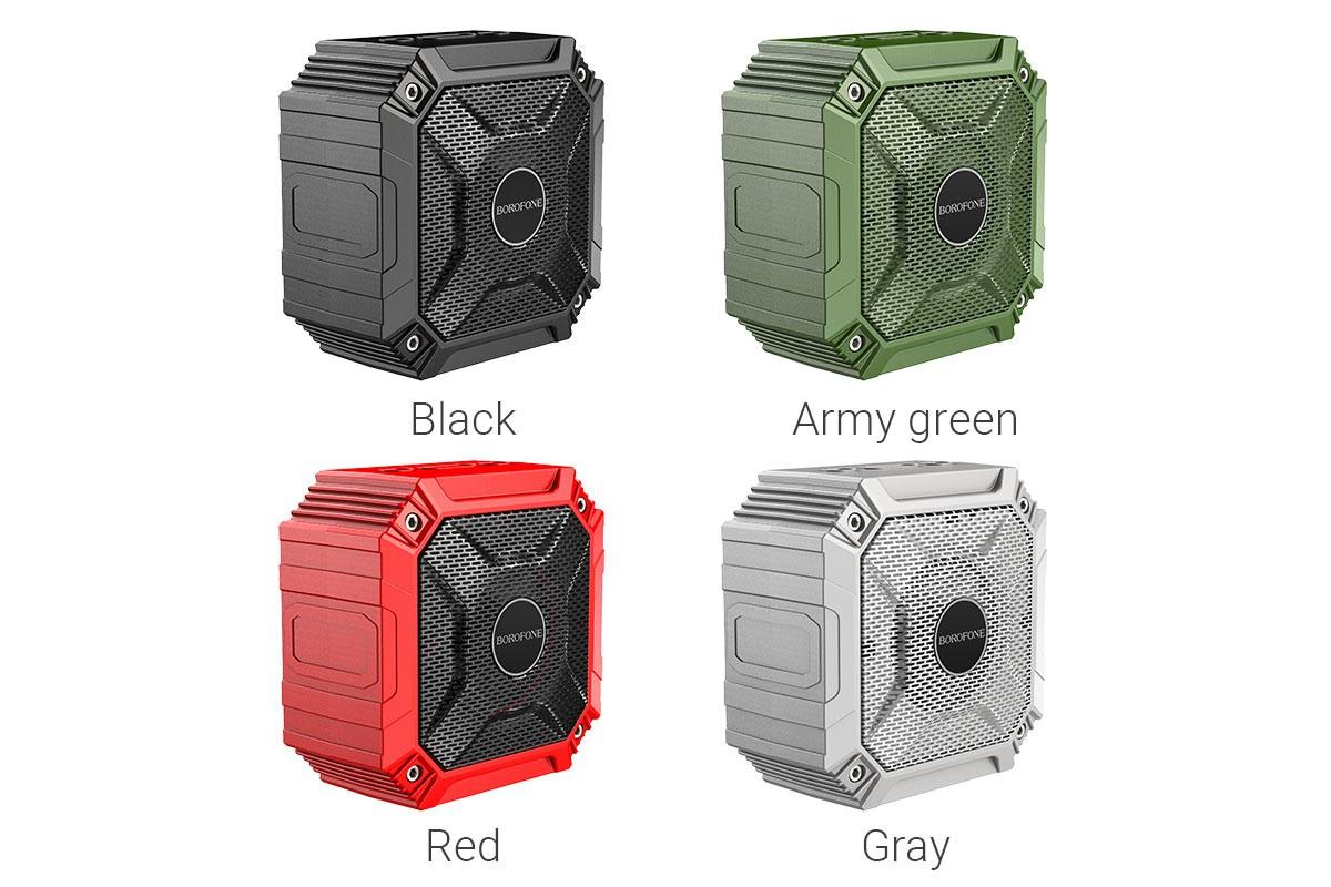 Портативная беспроводная акустика BOROFONE BP6  цвет серый
