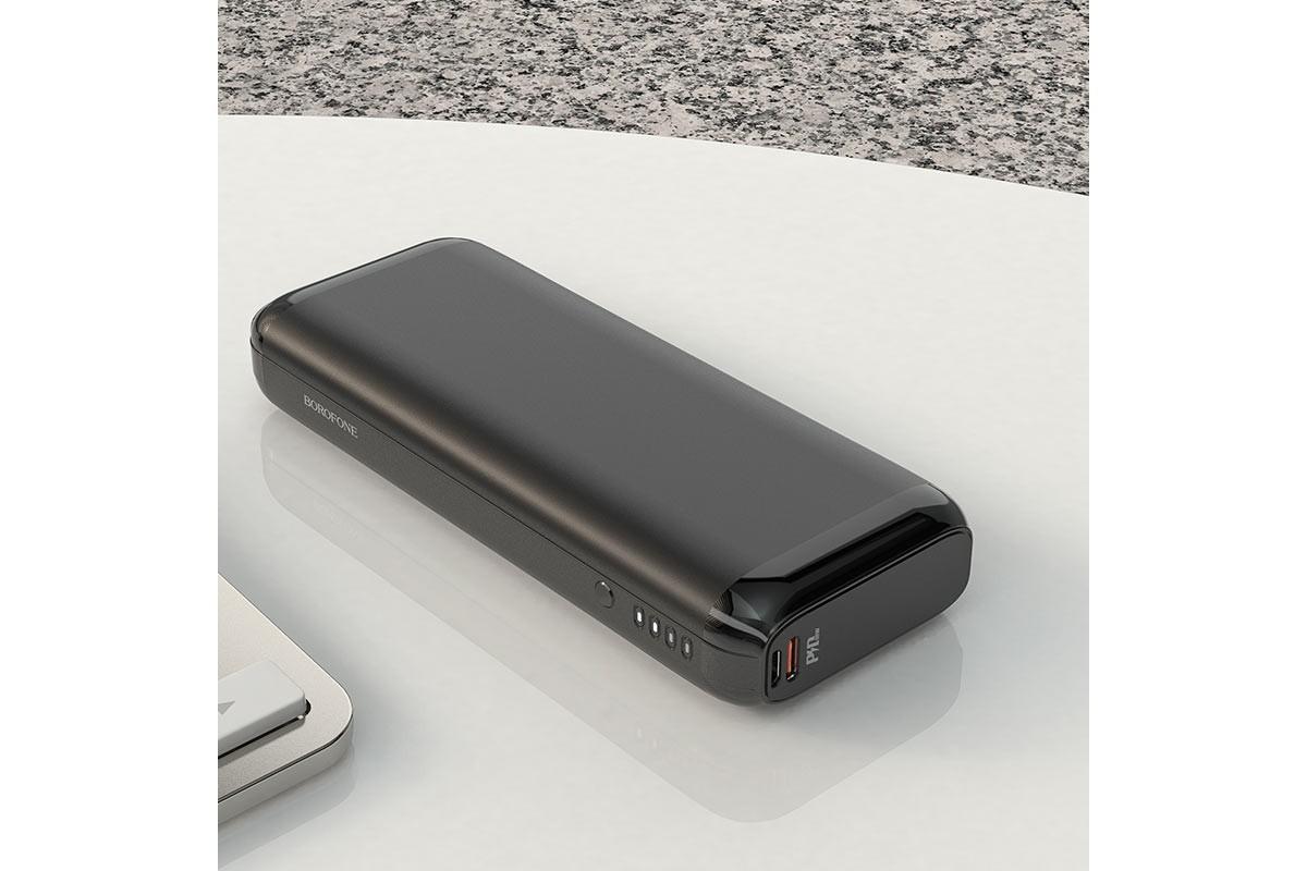Универсальный дополнительный аккумулятор BOROFONE BJ1A PD+ QC 3.0 mobile power bank 20000 mAh черный