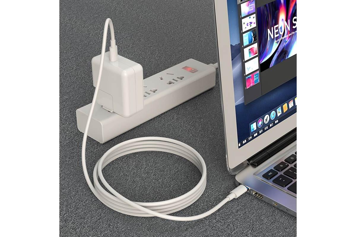 Кабель USB BOROFONE BX44  Type-C to Type-C higt energy 100w (белый) 1 метр