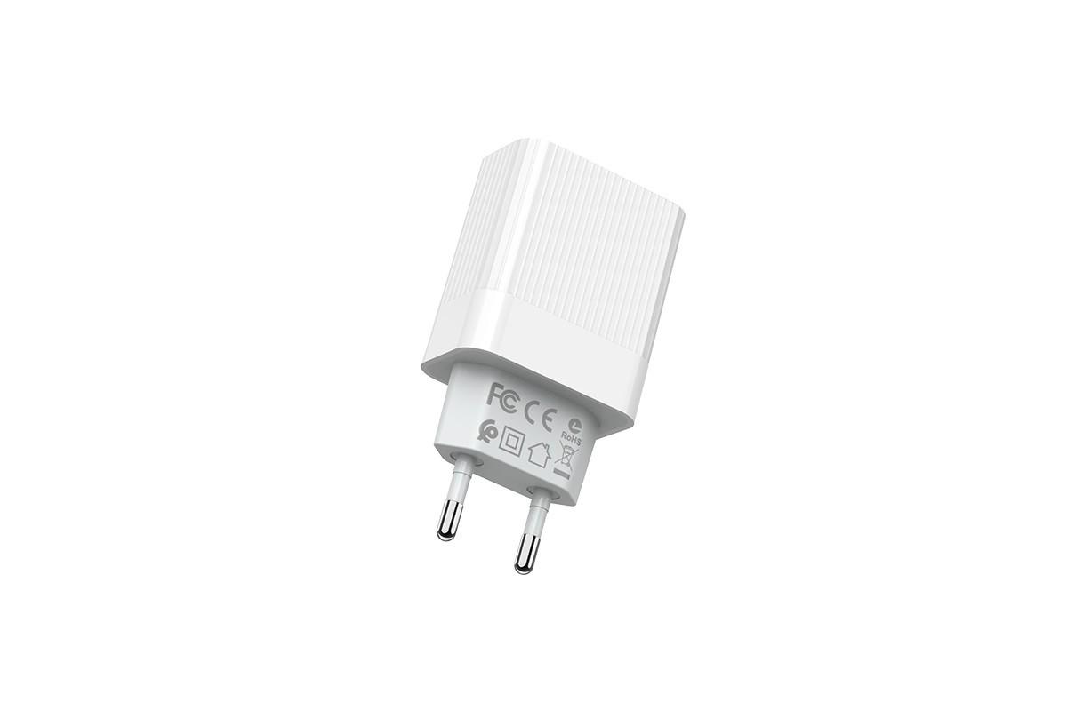 Сетевое зарядное устройство 3USB 3400mAh BOROFONE BA40 Speedway 3-USB QC 3.0 белый