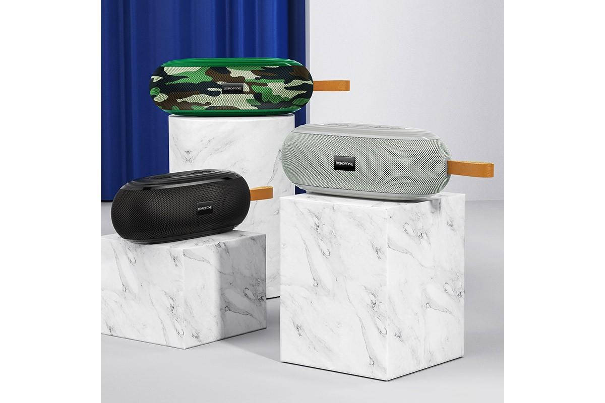 Портативная беспроводная акустика BOROFONE BR9 Erudite sports wireless speaker  цвет серый