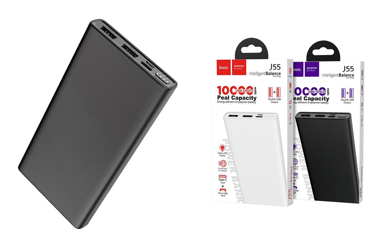 Универсальный дополнительный аккумулятор HOCO  J55 Neoteric mobile power bank (10000mAh) черный