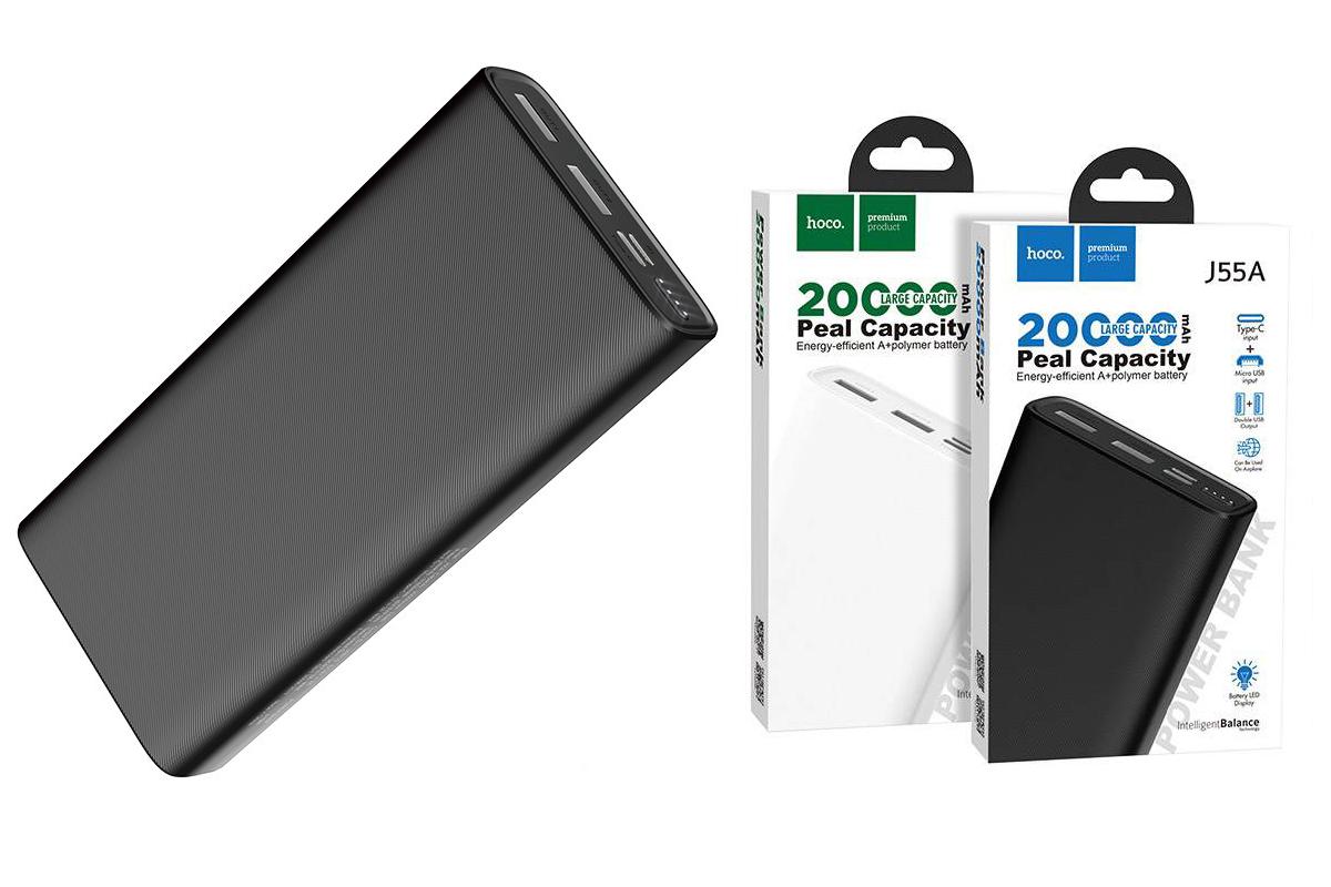 Универсальный дополнительный аккумулятор HOCO  J55A Neoteric mobile power bank (20000mAh) черный