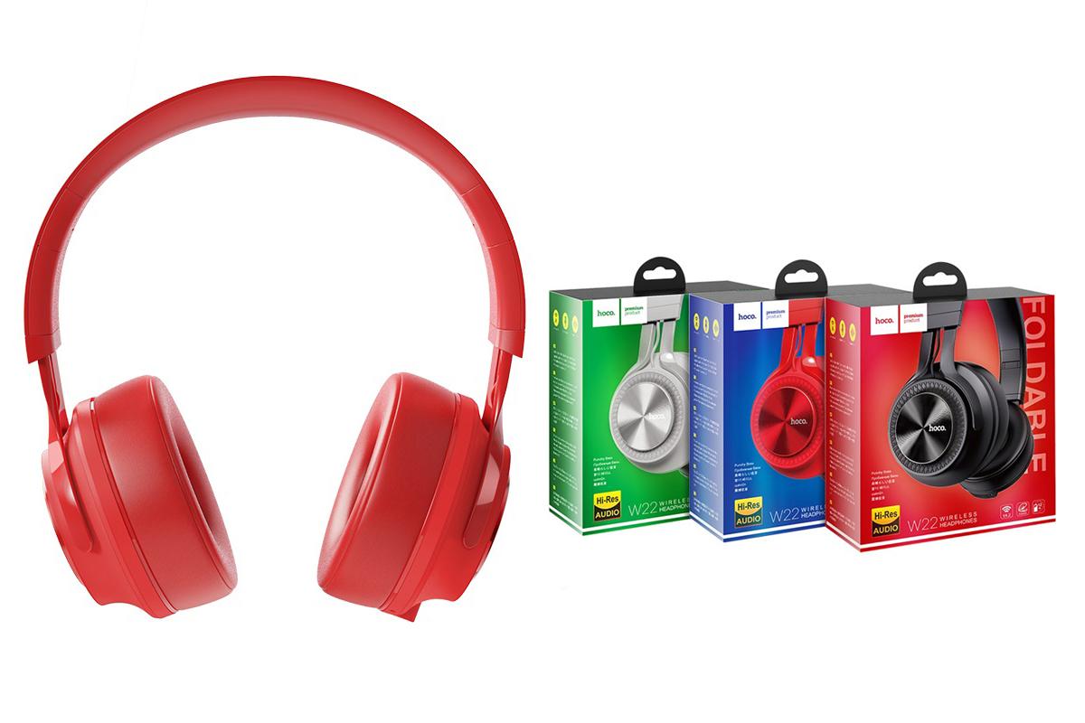Беспроводные внешние наушники HOCO W22 Talent sound wireless headphones красный
