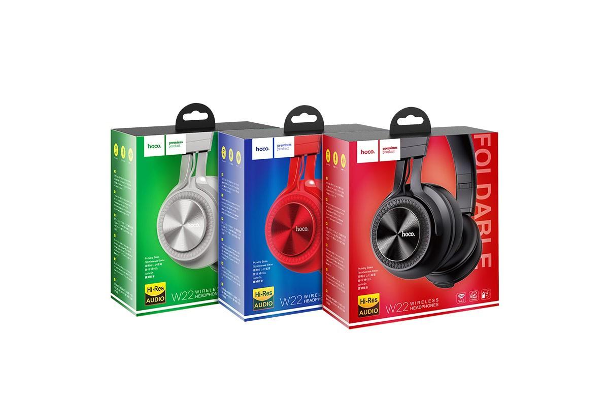 Беспроводные внешние наушники HOCO W22 Talent sound wireless headphones серый