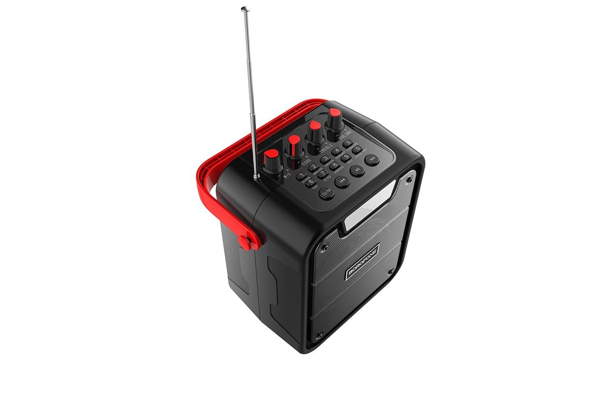 Портативная беспроводная акустика BOROFONE BP7 Cool karaoke BT speaker цвет черный