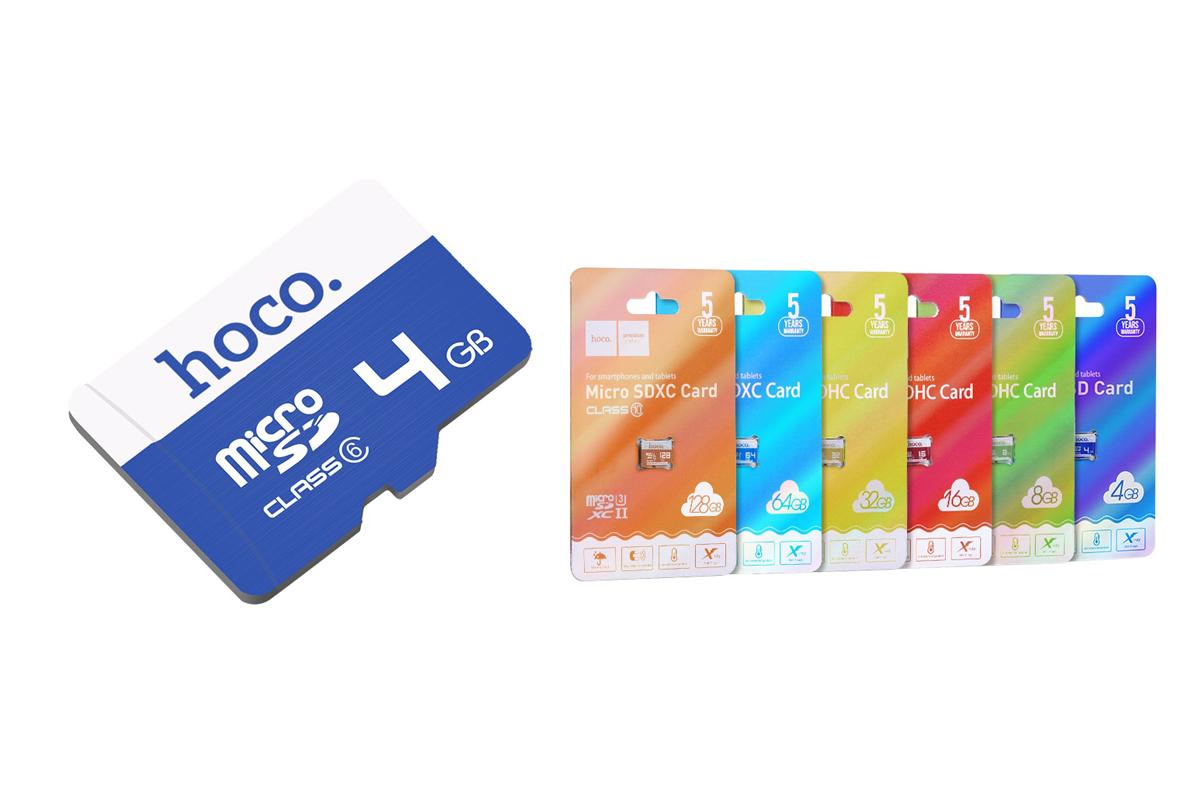 Карта памяти HOCO 4GB MicroSD (Сlass6)