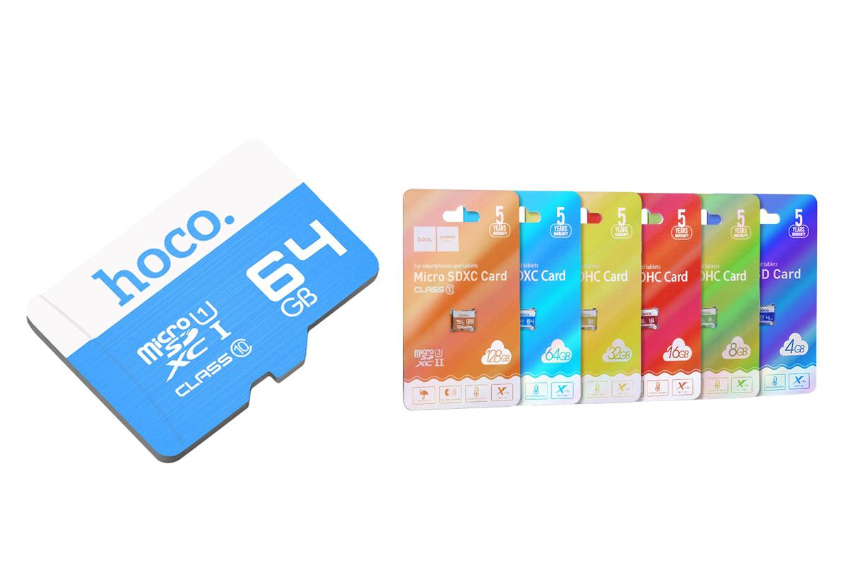 Карта памяти HOCO MicroSD 64GB (Class 10)