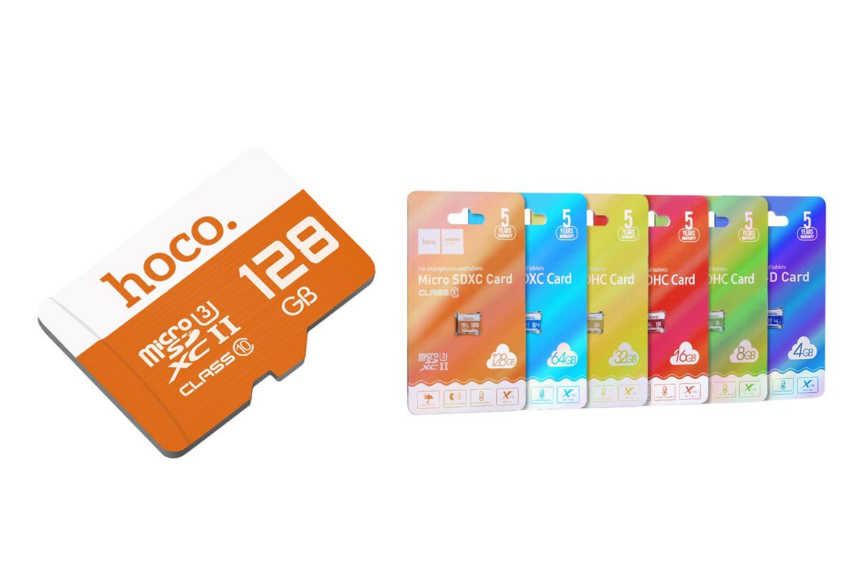 Карта памяти HOCO 128GB MicroSD (Сlass10)