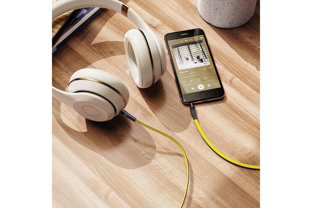 Кабель удлинитель BOROFONE BL6 AUX Audio cable 3.5 1 метр желтый