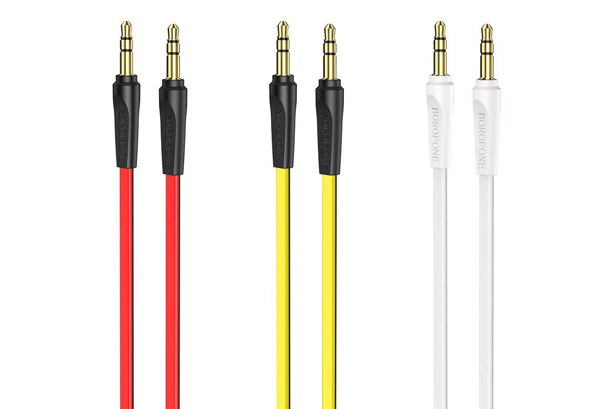 Кабель удлинитель BOROFONE BL6 AUX Audio cable 3.5 1 метр белый