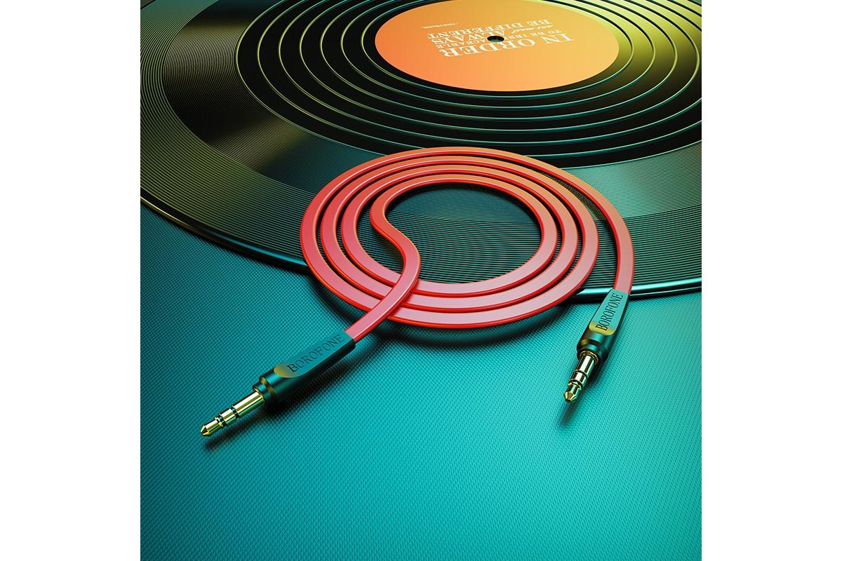 Кабель удлинитель BOROFONE BL6 AUX Audio cable 3.5 1 метр красный